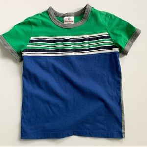 Hanna Andersson Blue and Green Short Sleeve Tee